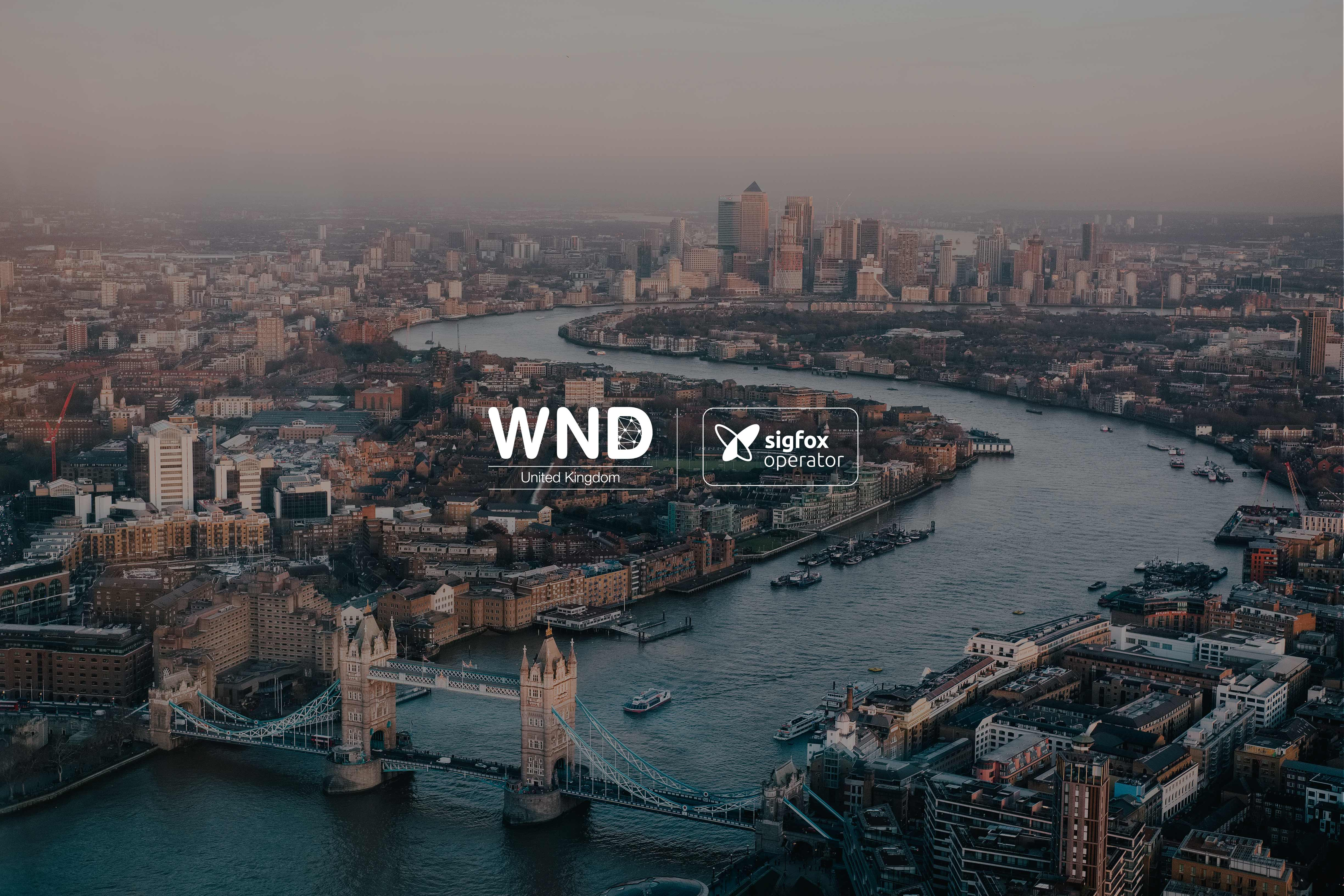 WNDUK, Sigfox network operator for the UK  announces 1,000 base station installs covering more than 50 million people
