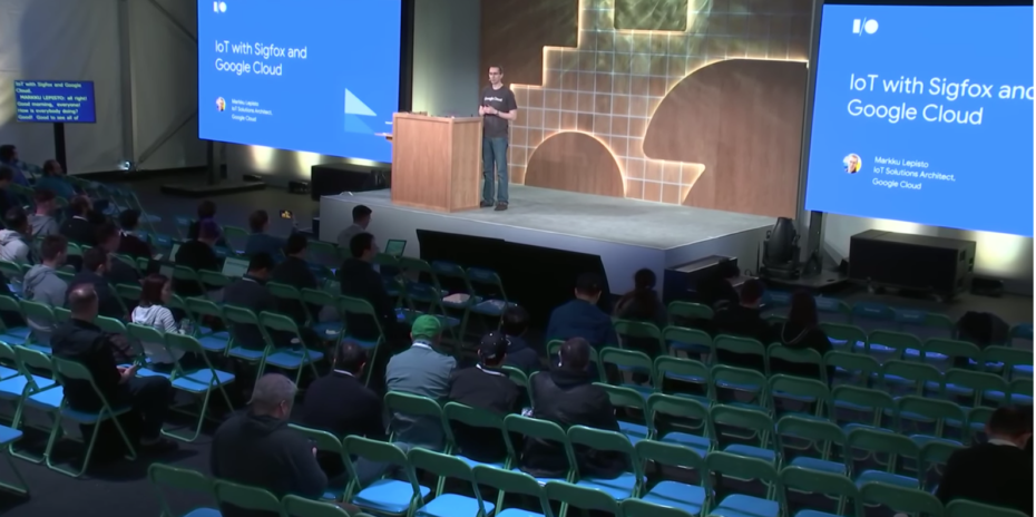 VIDEO / Discover the new integration of IoT Sigfox with Google Cloud (Google I / O'19)