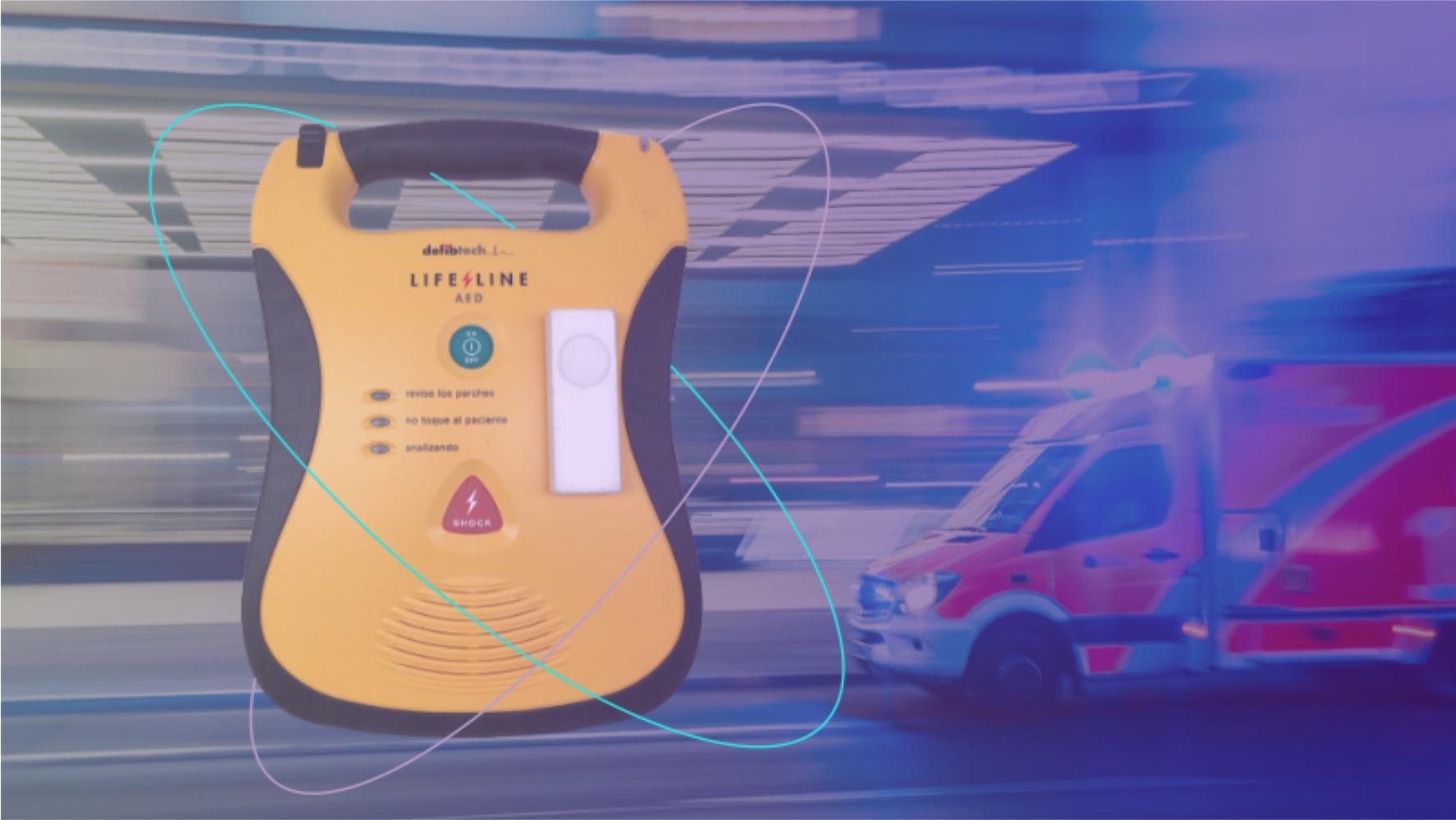 Salvando vidas con SimplePack y la máquina de desfibrilador externo automático (DEA) que ayuda a sobrevivir a un paro cardíaco