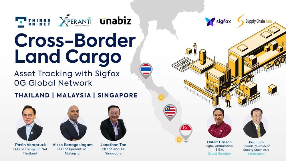 Tres operadores de Sigfox impulsarán la resiliencia de la cadena de suministro en Singapur, Malasia y Tailandia