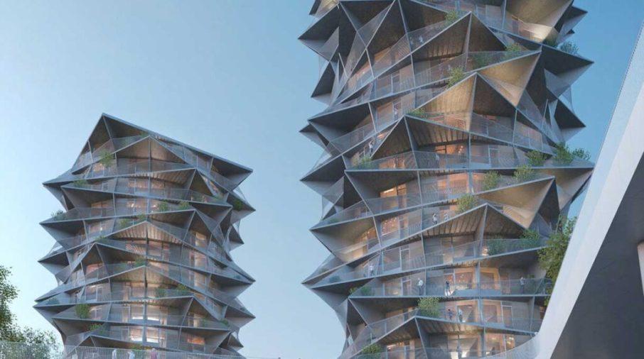 """Las """"Cactus Towers"""", un edificio residencial de gran altura en Copenhague: un estudio de caso de Maturix"""