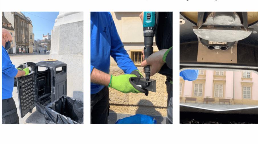 Supervisión de los contenedores de basura para garantizar la limpieza en el centro de la ciudad de Bratislava